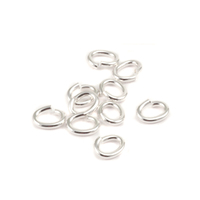 Sterling Silver 3.8mm x 6.2mm I.D. 18g Oval J.R., pk of 10