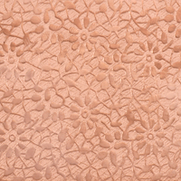 "Patterned Copper 24g Sheet Metal, Daisy, 2.5"" x 6"""