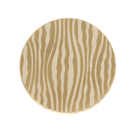 "Anodized Aluminum 3/4"" Circle, Gold, Design #18, 22g"