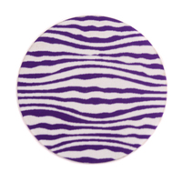 "Anodized Aluminum 1"" Circle, Purple, Design #18, 22g"