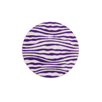 "Anodized Aluminum 5/8"" Circle, Purple, Design #18, 22g"
