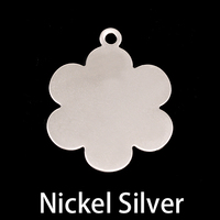 "Nickel 1"" Flower w/Top Loop, 24g"