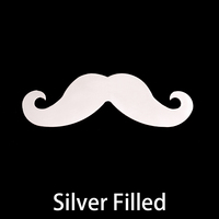 Silver Filled Mustache, 24g - Distinguished
