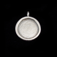 Sterling Silver Circle with Smooth Raised Edge, Medium