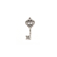 Sterling Silver Skeleton Key Charm