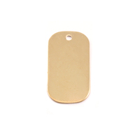 Brass Small Dog Tag, 24g