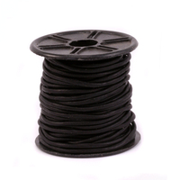 Leather Cord, Round 1.5mm, Black 32.8 ft
