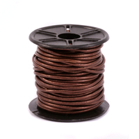 Leather Cord, Round 1.5mm, Metallic Bronze 32.8 ft