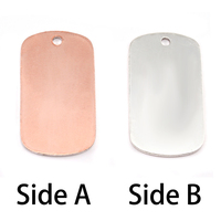 Single Clad Medium Dog Tag (no notch), 18g