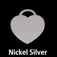 "Nickel Silver ""Tiffany"" Style Heart, 24g"