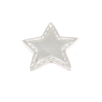 Plated Silver Charm: Stitched Star