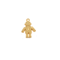 Plated Gold Charm: Robot