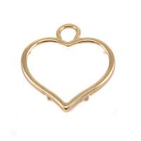 Brass Large Smooth Puffy Heart Frame