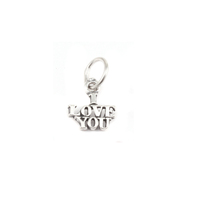 "Sterling Silver ""I Love You"" Charm"