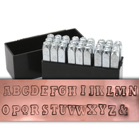 "Varsity Uppercase Letter Stamp Set 1/4"" (6mm)"