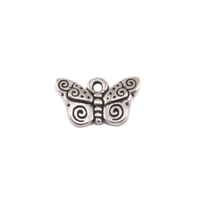 Plated Silver Charm: Butterfly
