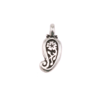 Plated Silver Charm: Paisley