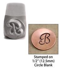 """Monogram Letter """"B"""" 6mm"""