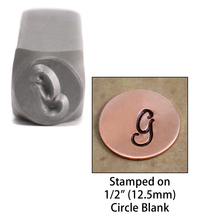 """Monogram Letter """"G"""" 6mm"""