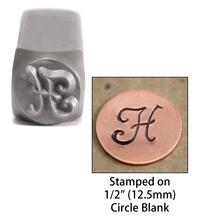 """Monogram Letter """"H"""" 6mm"""
