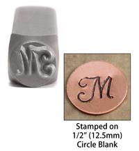 """Monogram Letter """"M"""" 6mm"""