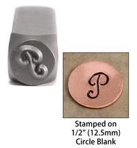 """Monogram Letter """"P"""" 6mm"""