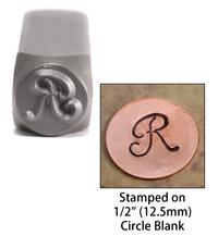 """Monogram Letter """"R"""" 6mm"""
