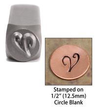 """Monogram Letter """"V"""" 6mm"""