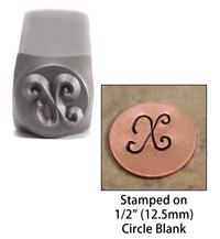 """Monogram Letter """"X"""" 6mm"""