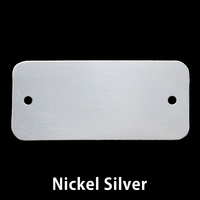 Nickel Silver Rectangle Component with Holes, 24g