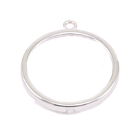 "Sterling Silver 7/8"" Smooth Circle Frame"