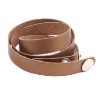 "Stampable Leather Wrap Around Bracelet 1/2"" Adjustable, Bronze"