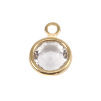 Swarovski Crystal Channel Gold Charm (Diamondique - APRIL)
