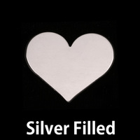 Silver Filled Medium Classic Heart, 24g