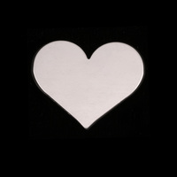 Sterling Silver Medium Classic Heart, 24g