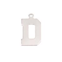 Sterling Silver Letter D, 20g