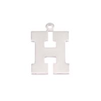 Sterling Silver Letter H, 20g