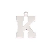Sterling Silver Letter K, 20g