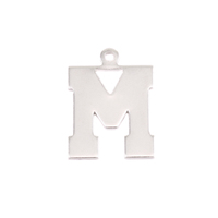 Sterling Silver Letter M, 20g