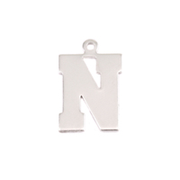 Sterling Silver Letter N, 20g