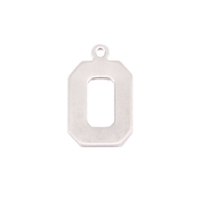 Sterling Silver Letter O, 20g