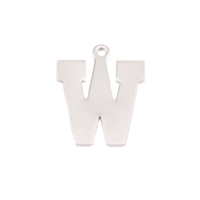 Sterling Silver Letter W, 20g