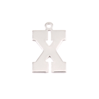 Sterling Silver Letter X, 20g