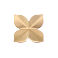 Brass 4 Petal Folded Flower, 24g