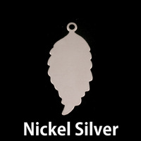 Nickel Silver Leaf with Top Loop Blank, 24g