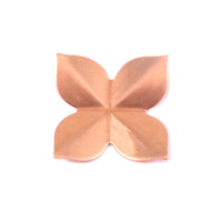 Copper 4 Petal Folded Flower, 24g