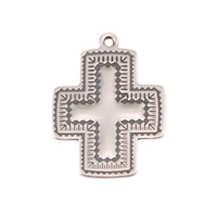 Sterling Silver Southwest Cross Charm