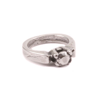 Sterling Silver Tiny Solitaire Ring Charm