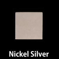 "Nickel Silver 3/4"" (18.5mm) Square, 24g"