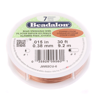 .015 7-Strand Copper Metallic Beadalon Stringing Wire